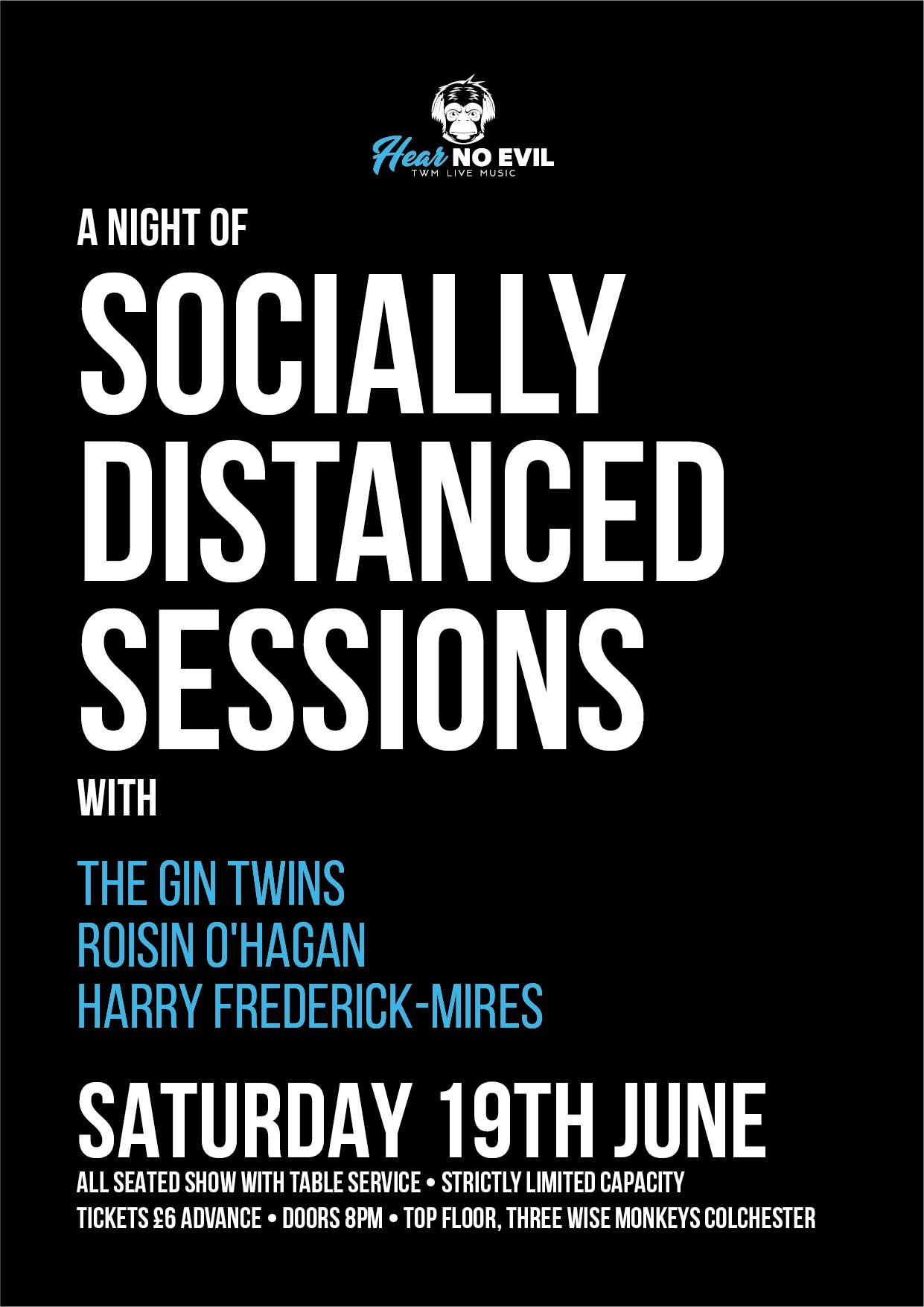 Twm Live Socially Distanced Sessions: The Gin Twins, Roisin O'hagan, Harry Frederick-mires